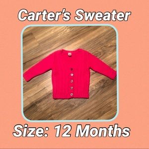 Hot Pink Carter's Sweater
